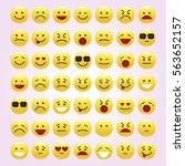 set of emoticons  icon pack ...   Shutterstock .eps vector #563652157
