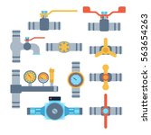 pipes vector icons isolated. | Shutterstock .eps vector #563654263