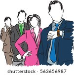 group of business people...   Shutterstock .eps vector #563656987