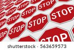 ordered grid of stop signs....   Shutterstock . vector #563659573