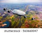 white double decker passenger... | Shutterstock . vector #563660047