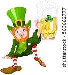 illustration of a cute drank... | Shutterstock .eps vector #563662777