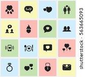 set of 16 editable heart icons. ...