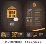 creative menu design. | Shutterstock .eps vector #563673193