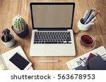 computer network connection... | Shutterstock . vector #563678953