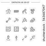 construction flat icon set....