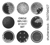 grunge circle stamps collection ... | Shutterstock .eps vector #563706427