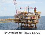 offshore construction platform... | Shutterstock . vector #563712727