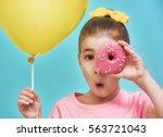 Funny Little Girl On Backgroun...
