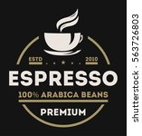 coffee logo isolated vector... | Shutterstock .eps vector #563726803