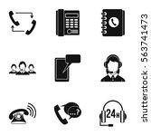online consultation icons set.... | Shutterstock .eps vector #563741473