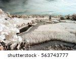 infrared landscape on a summer... | Shutterstock . vector #563743777