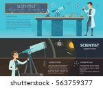 science colorful horizontal... | Shutterstock .eps vector #563759377