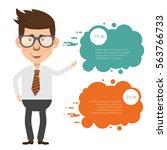 businessman concept design... | Shutterstock .eps vector #563766733