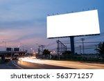 blank billboard for... | Shutterstock . vector #563771257