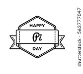 happy pi day emblem isolated... | Shutterstock .eps vector #563777047
