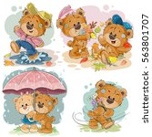 set of vector clip art... | Shutterstock .eps vector #563801707