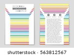 abstract vector layout... | Shutterstock .eps vector #563812567