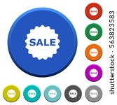 sale badge round color beveled...