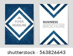 abstract vector layout... | Shutterstock .eps vector #563826643
