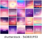 big set of 20 square blurred... | Shutterstock .eps vector #563831953