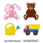 kids toys isolated on white... | Shutterstock .eps vector #563835067