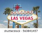 welcome to las vegas neon sign | Shutterstock . vector #563841457