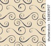elegant seamless pattern of... | Shutterstock .eps vector #563853937
