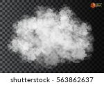 fog or smoke isolated... | Shutterstock .eps vector #563862637