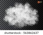 fog or smoke isolated... | Shutterstock .eps vector #563862637