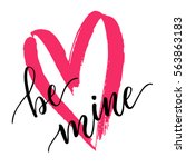 ba mine   hand drawn lettering... | Shutterstock .eps vector #563863183