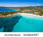 aerial  view  of palombaggia... | Shutterstock . vector #563866987