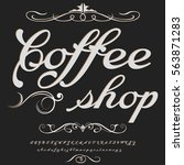 coffee shop handcrafted vector... | Shutterstock .eps vector #563871283