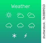 weather icon set. flat design
