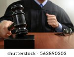 justice and law concept.male... | Shutterstock . vector #563890303