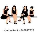 vector silhouette of a woman... | Shutterstock .eps vector #563897797