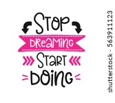 vector poster with phrase decor ... | Shutterstock .eps vector #563911123