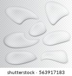 water drops set.vector... | Shutterstock .eps vector #563917183