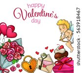 set of valentine's day icons.... | Shutterstock .eps vector #563918467