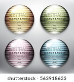 abstract vector banner set of 4.... | Shutterstock .eps vector #563918623