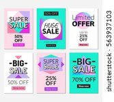 sale banners set and ads web...   Shutterstock .eps vector #563937103
