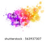 music notes on colorful...