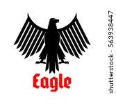black eagle heraldic icon.... | Shutterstock .eps vector #563938447