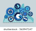 business mechanism concept in... | Shutterstock .eps vector #563947147