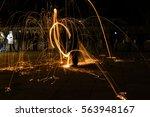 burning steel wool spinning.   Shutterstock . vector #563948167