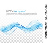 blue abstract wave on a... | Shutterstock .eps vector #563950003