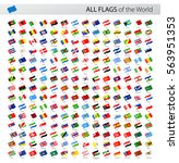 vector collection of all world... | Shutterstock .eps vector #563951353