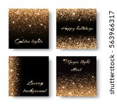set of festive background with... | Shutterstock . vector #563966317