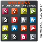 home icons set in flat design... | Shutterstock .eps vector #563970517
