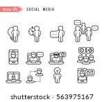 social icons | Shutterstock .eps vector #563975167